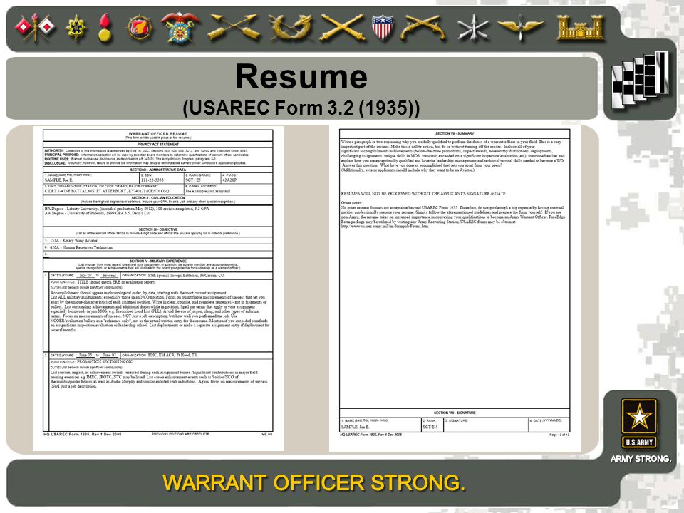 example of resume ppt