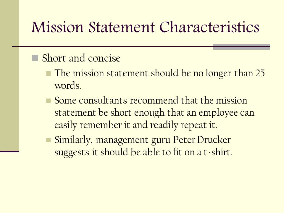 MISSION STATEMENTS BDI3C - ppt download - short mission statements
