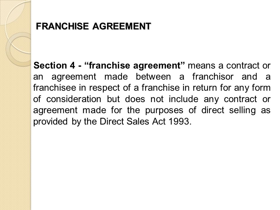 LICENSING  FRANCHISING IN MALAYSIA - ppt download - franchise agreement form