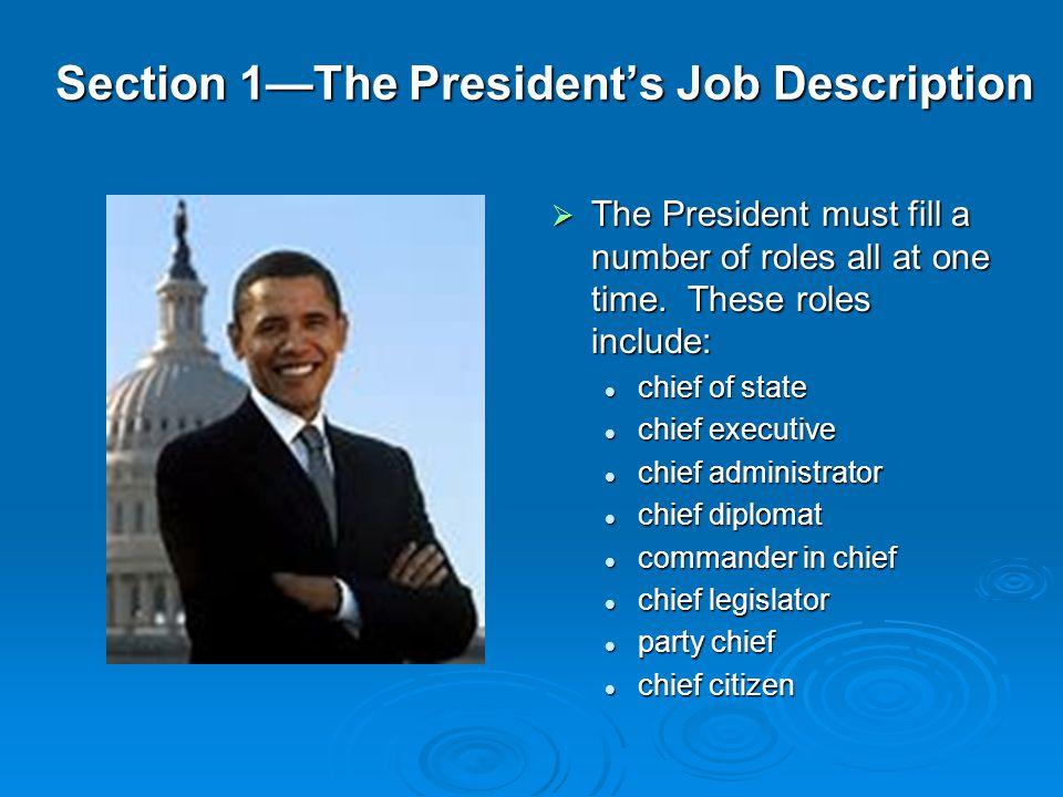 The President Chapter ppt video online download