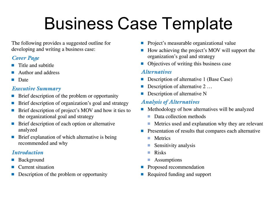 it project business case template env-1198748-resumecloud - it project business case template