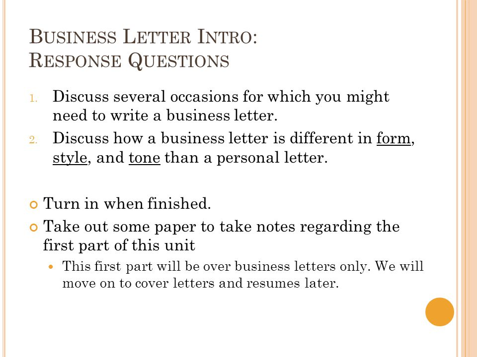 Business Letters Cover Letters Resumes - ppt download - cover letter intro