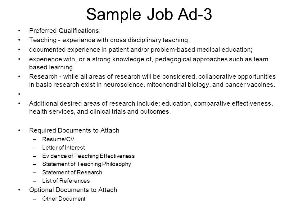 list qualifications for a job - Onwebioinnovate - job qualifications sample