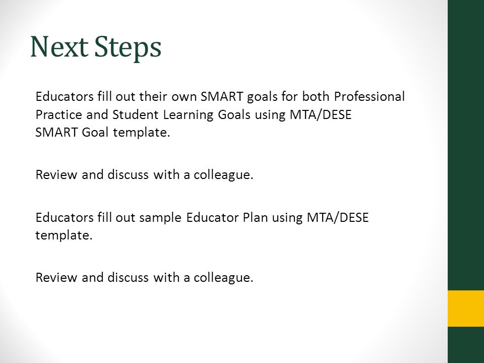SMART Goals and Educator Plan Development - ppt video online download - smart goals template