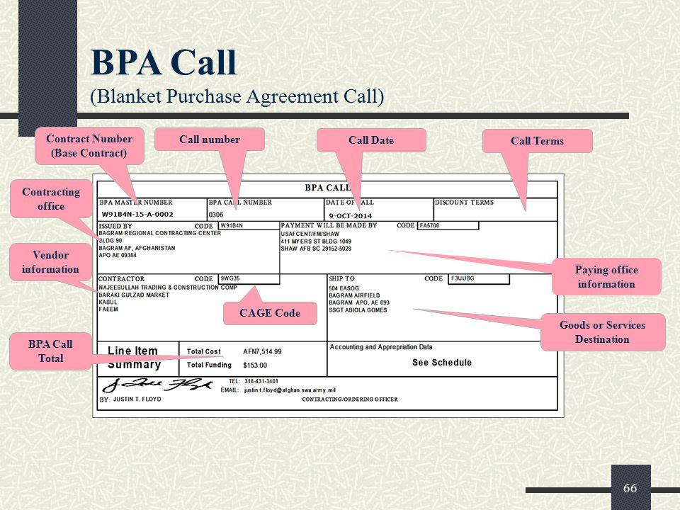Blanket Purchase Agreement Definition - 7500 Photo Blanket