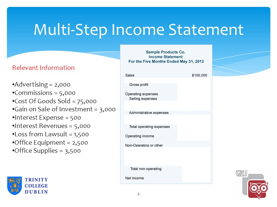 Multi Step Income Statement Template Excel Costumepartyrun