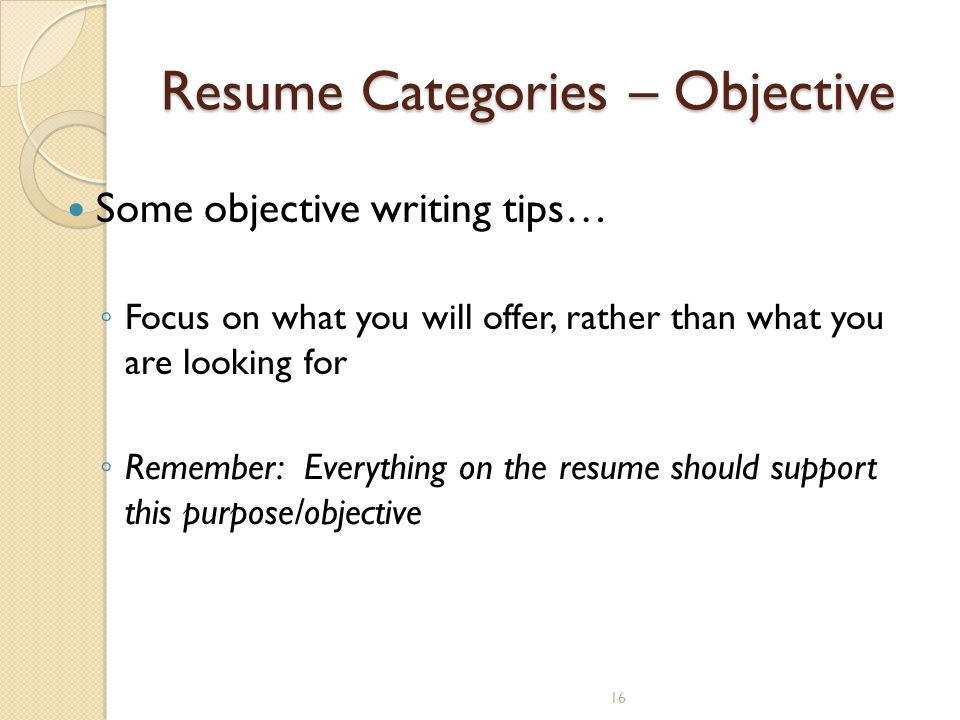 Writing a Cover Letter / Job Application Letter - ppt video online - purpose of objective in resume