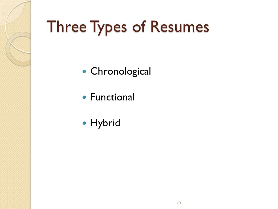 3 Type Of Resumes Contegri Com  Three Types Of Resumes
