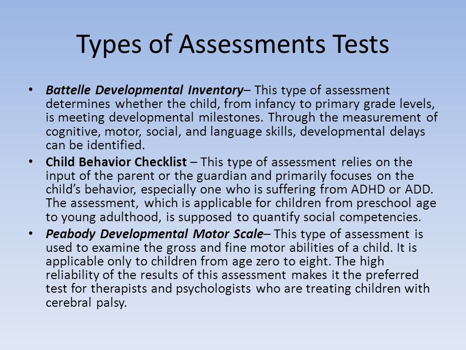Types of assessment test Homework Academic Service cvtermpaperdcbn