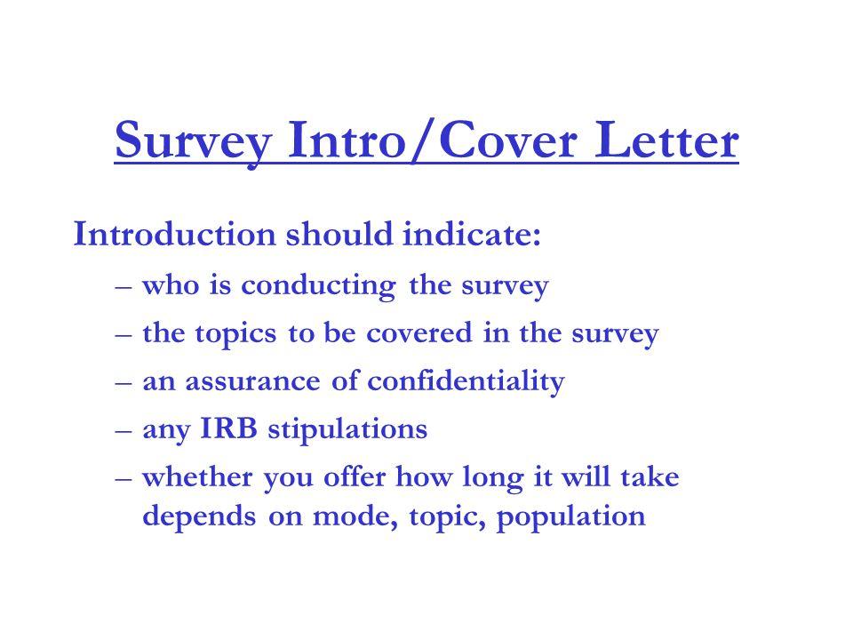 Introduction to Questionnaire Design - ppt download - survey cover letter