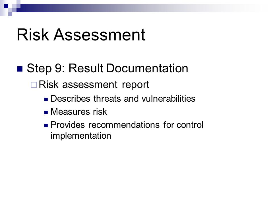 Risk Analysis COEN ppt video online download - risk assessment report