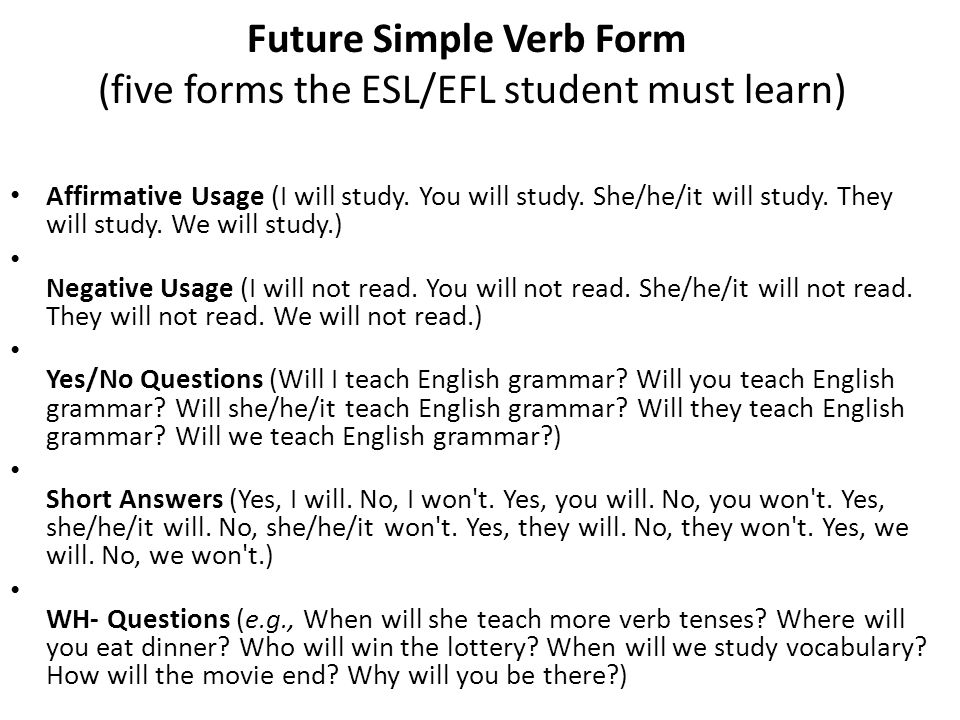 Future Tense - ppt video online download - simple will form