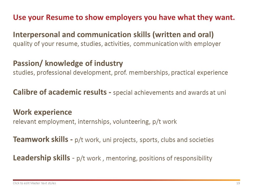 Masterclass Applying For Graduate Employment Ppt Download Teamwork Skills  For Resume  Teamwork Skills For Resume
