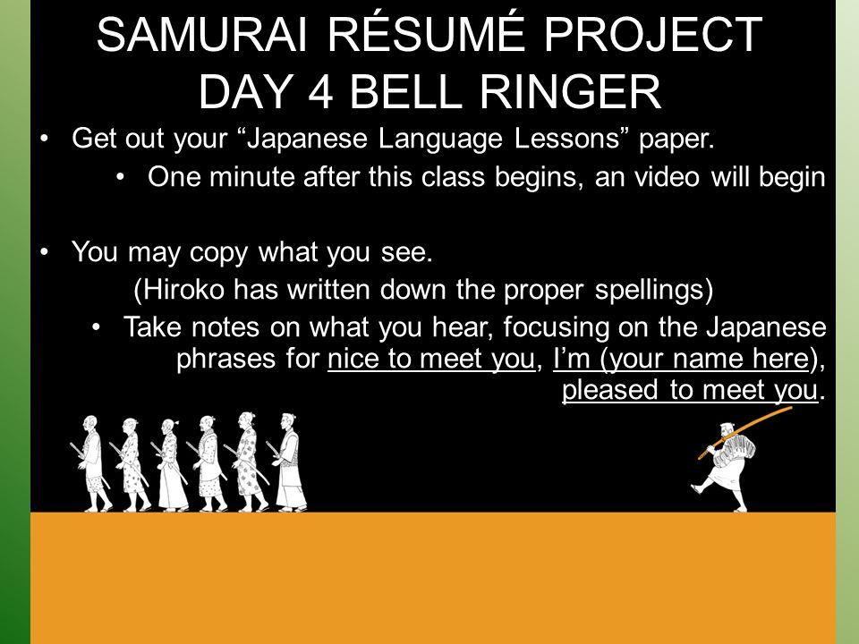 one day resume