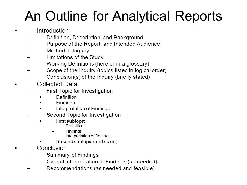 Learning Outcomes from Report-Writing Unit - ppt video online download