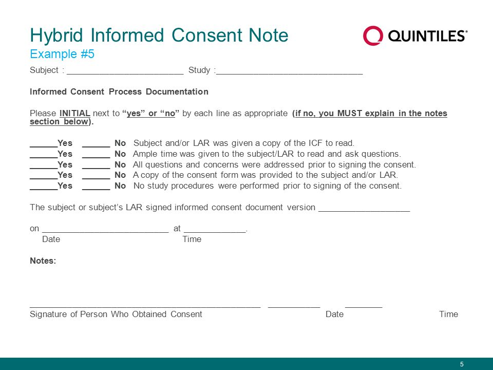 Best Practice How is the informed consent process best documented - research consent form template
