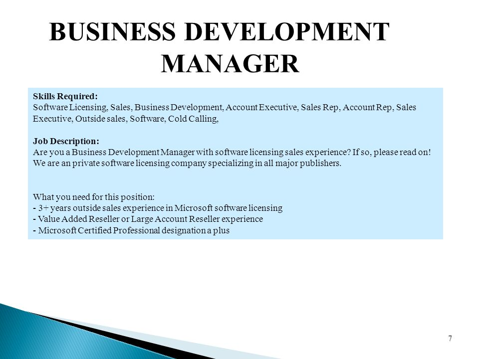 CAREER ISSUES IS 340 Chandra S Amaravadi - ppt download - Business Development Manager Job Description