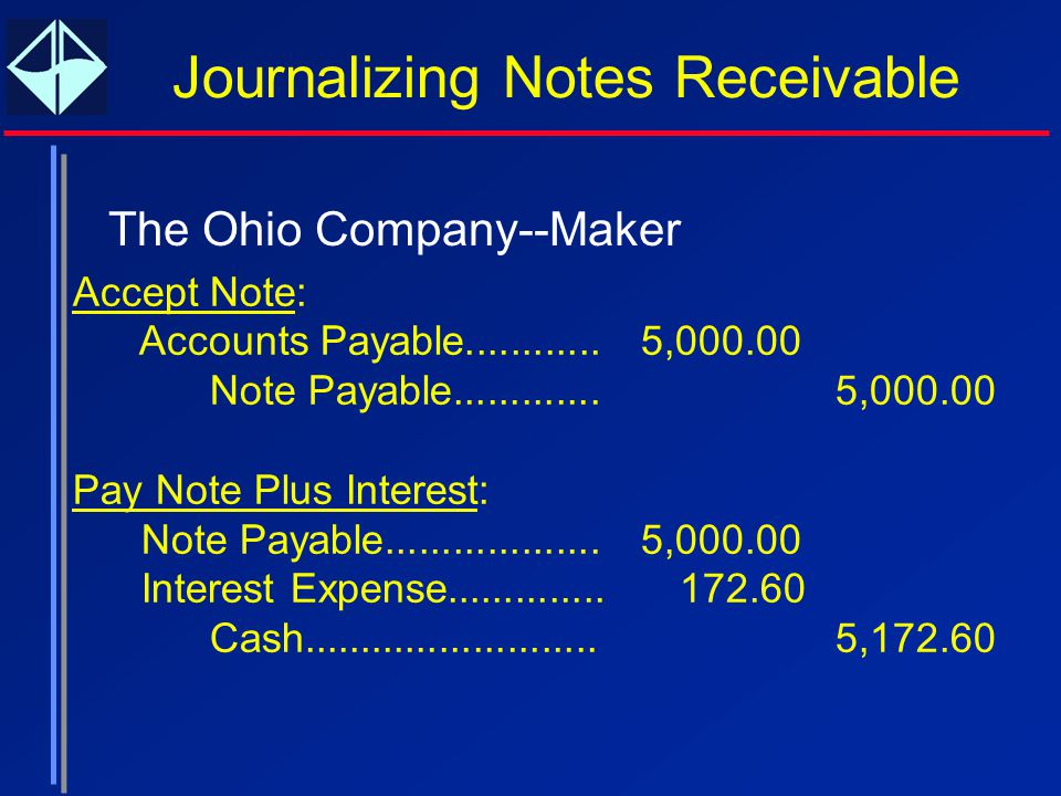 Reporting and Analyzing Receivables - ppt download - note payables