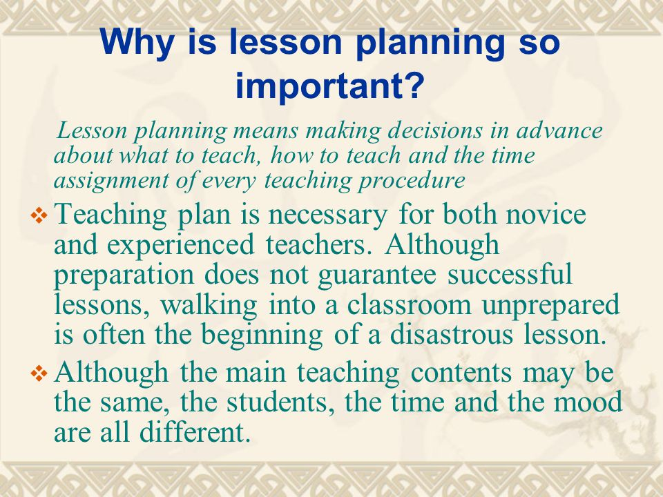 Lesson Planning Objectives - ppt video online download - what is a lesson plan and why is it important