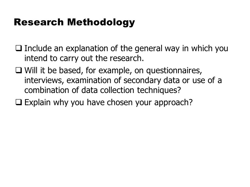 Methodology section of research proposal example \u2013 Essays HUB