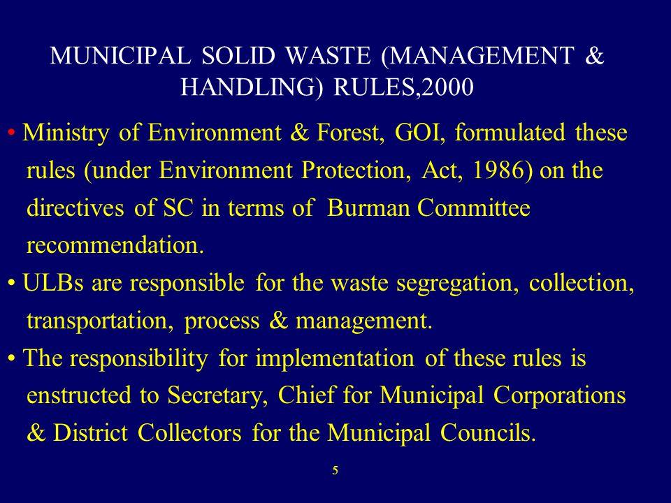 Lecture 4 (Es 200) Solid Waste Management - ppt download - waste management ppt