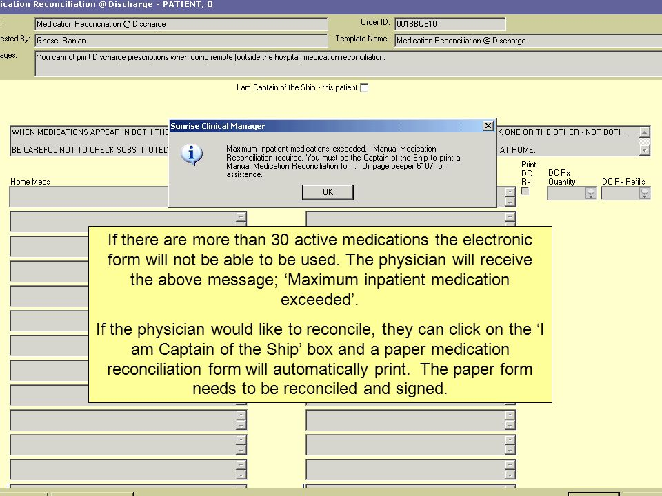Electronic Medication Reconciliation Nursing Discharge Process - ppt