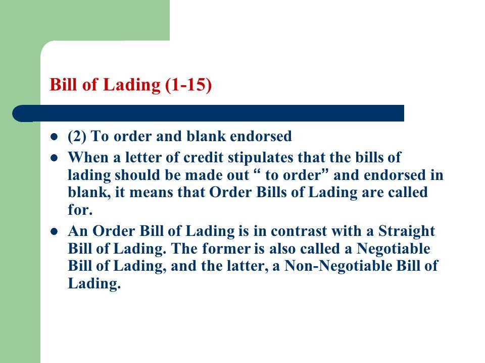 Blank Bill Of Lading - staruptalent - - blank straight bill of lading