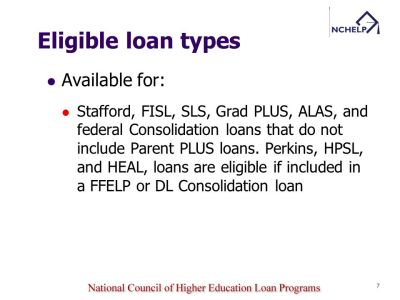 Income Based Repayment PFH Determination/ Tracking/ Forgiveness Claims - ppt download