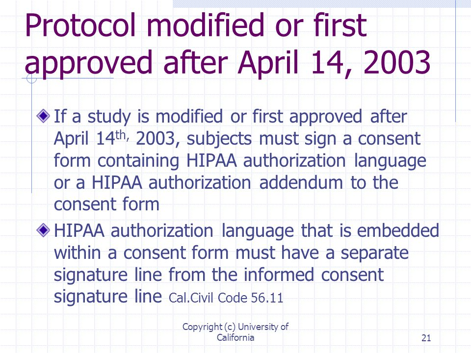 Health Insurance Portability and Accountability Act (HIPAA) - ppt - hipaa consent forms