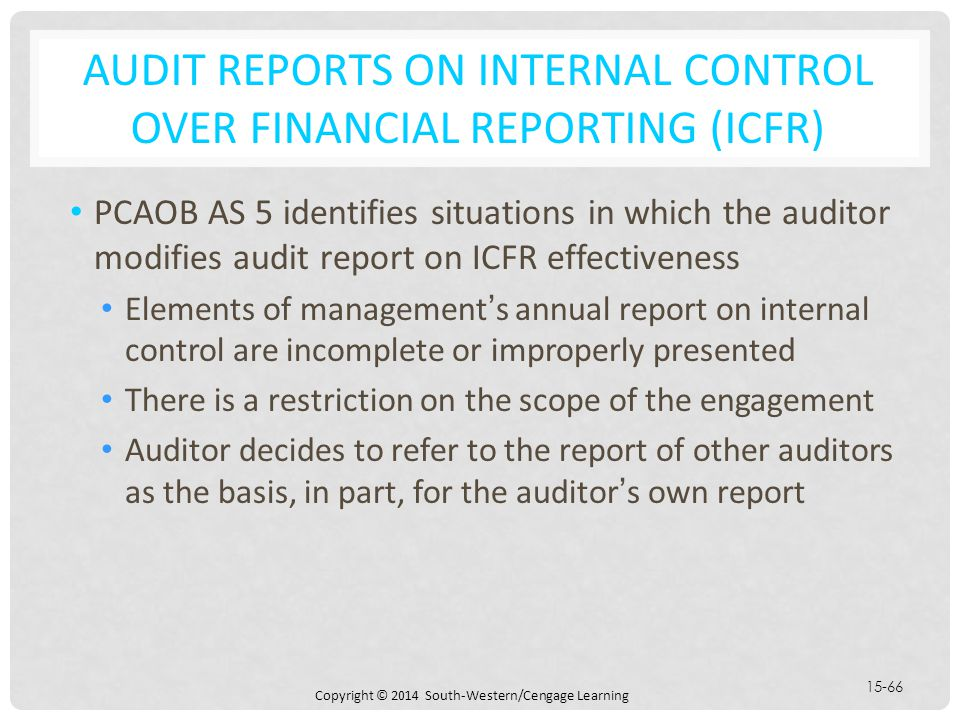 CHAPTER 15 AUDIT REPORTS ON FINANCIAL STATEMENTS - ppt download - audit reports