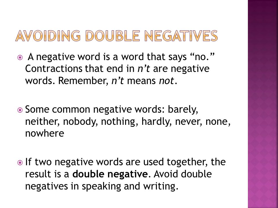 negative contractions
