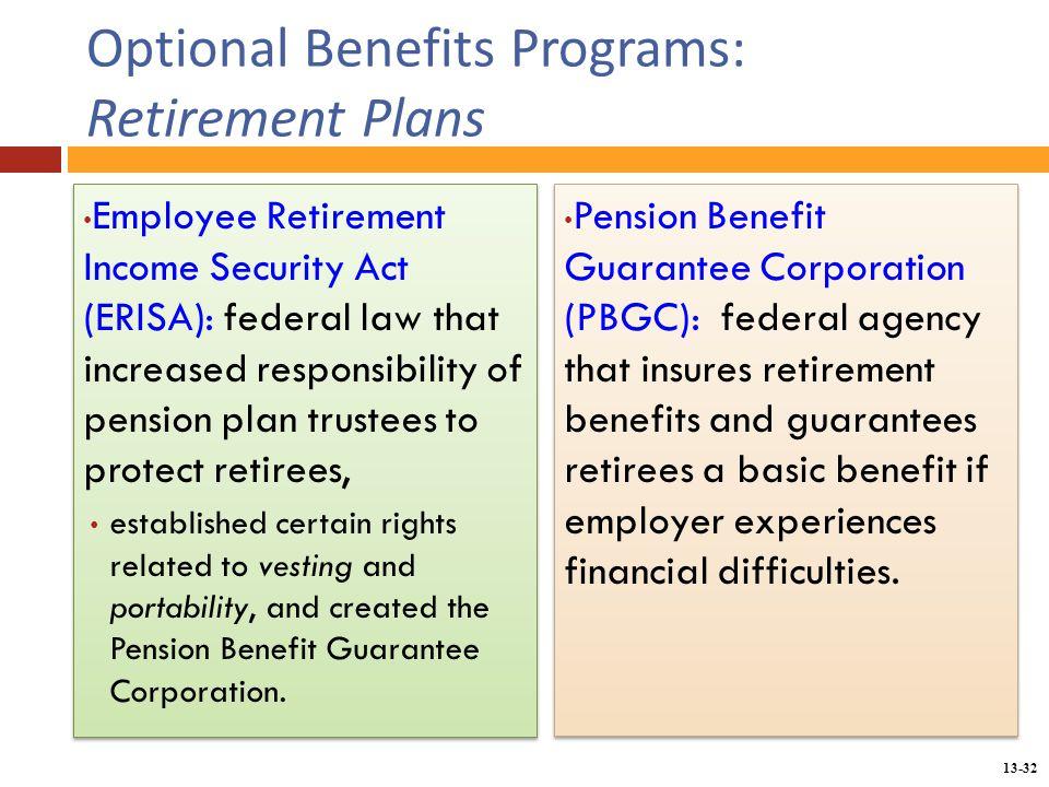 Chapter 13 providing employee benefits - ppt download - retirement programs