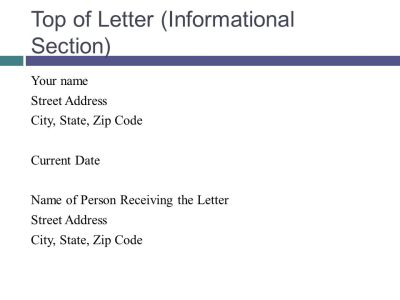 Writing the Formal Letter - ppt download