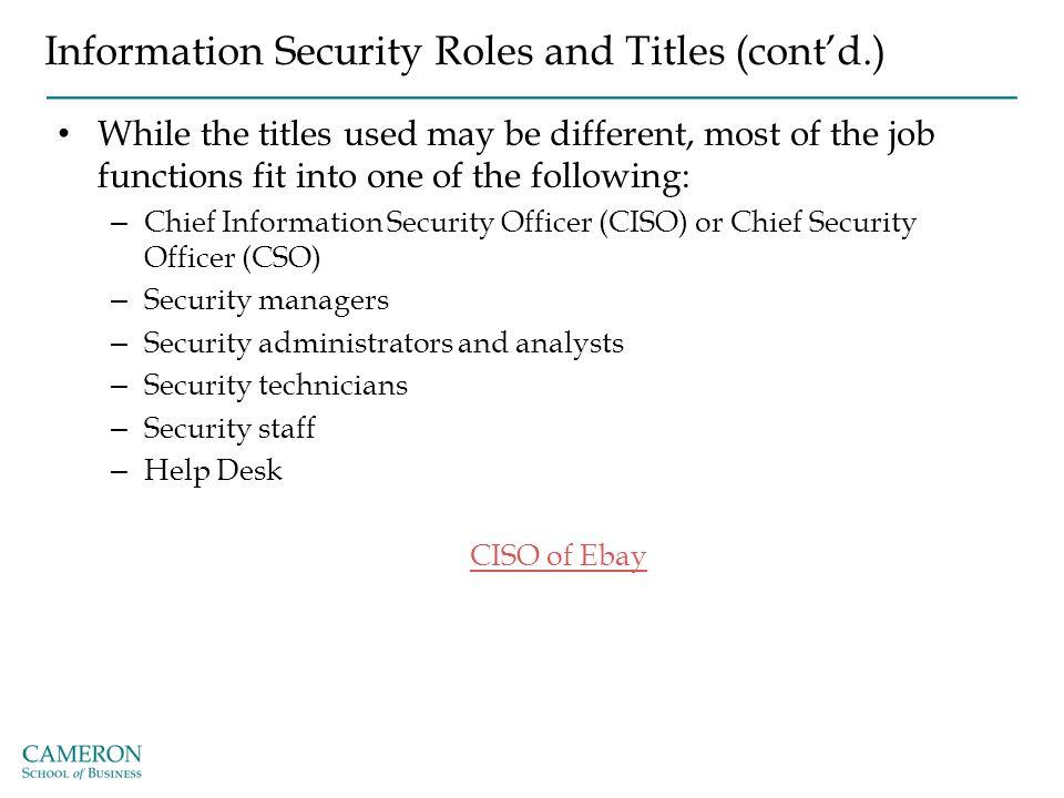 Business Information Security Officer Job Description Sample