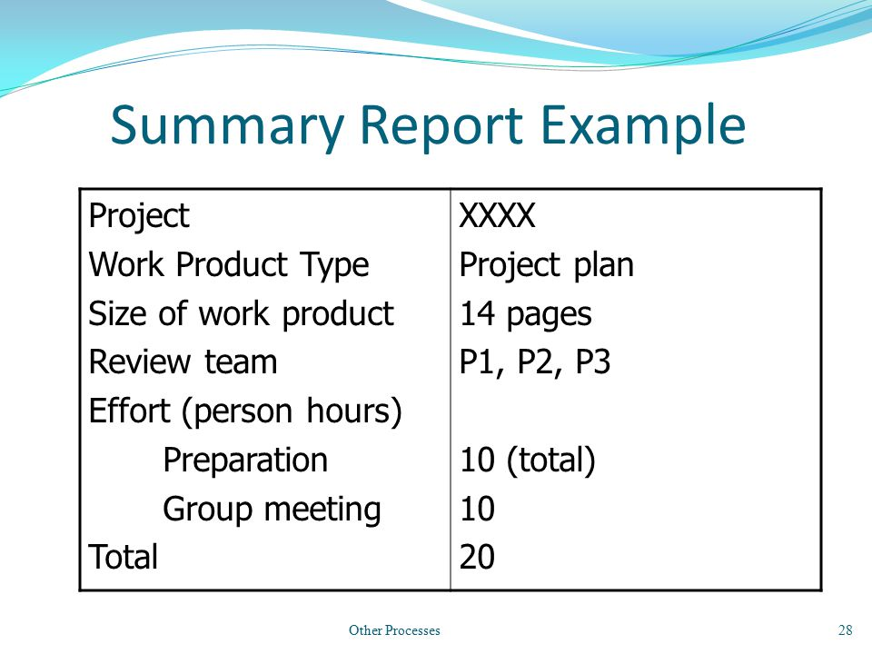 project summary report example – Project Summary Report Sample