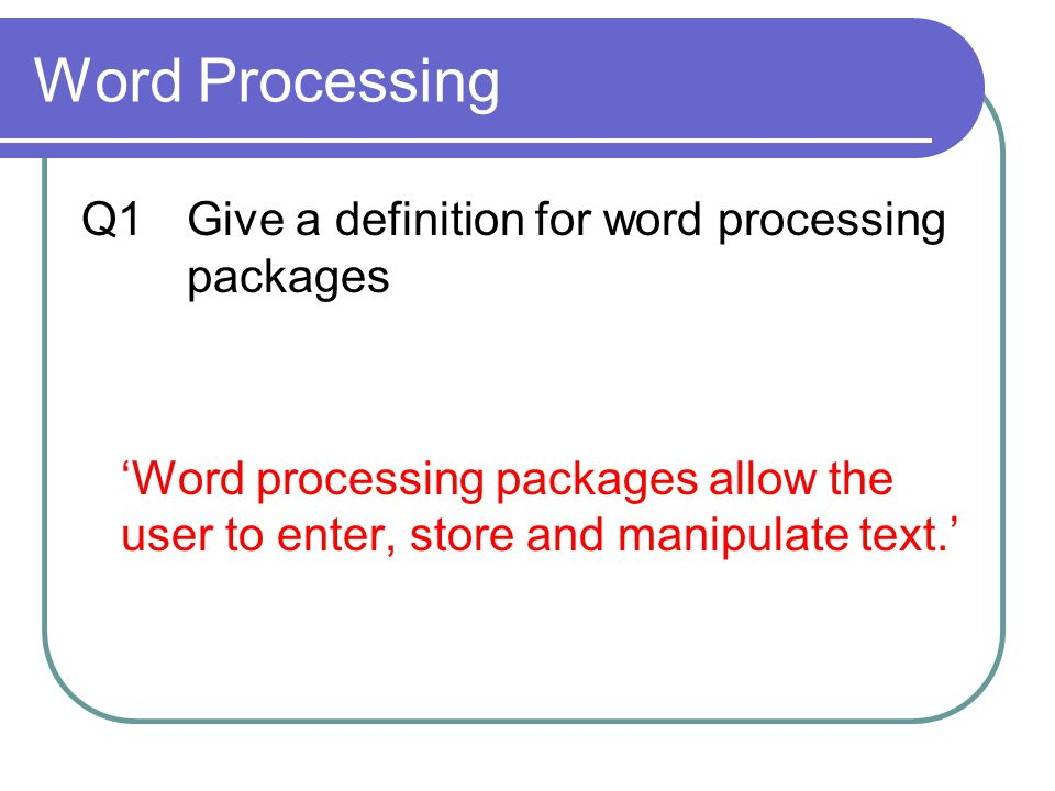 Word Processing Software - ppt video online download