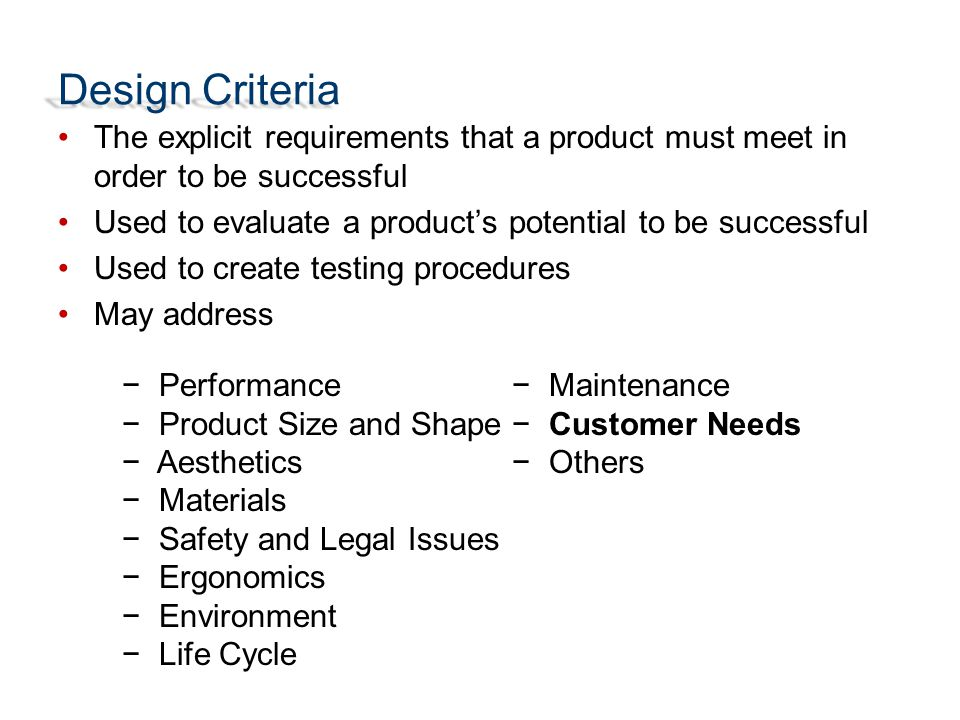Design Criteria And Constraints Ppt Download