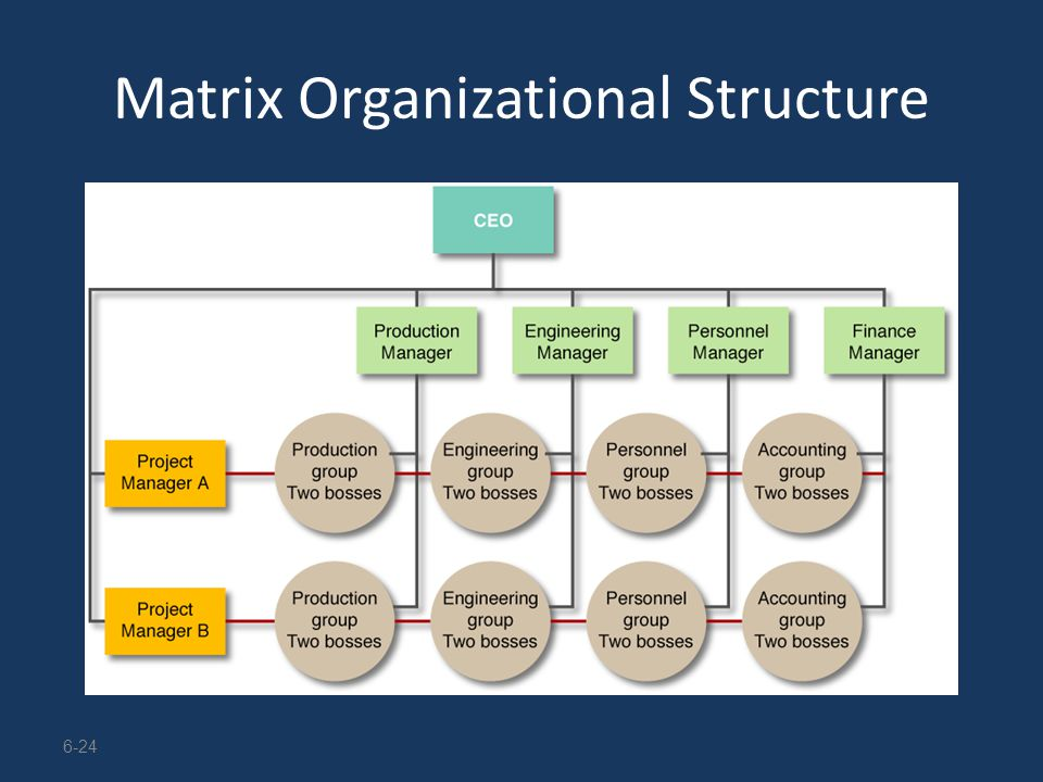 Module 8 \u2013 Organizing for Action - ppt download - matrix organizational structure