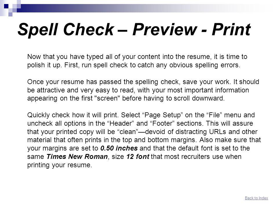 Spell Check Resume - Resume Ideas - how do u spell resume