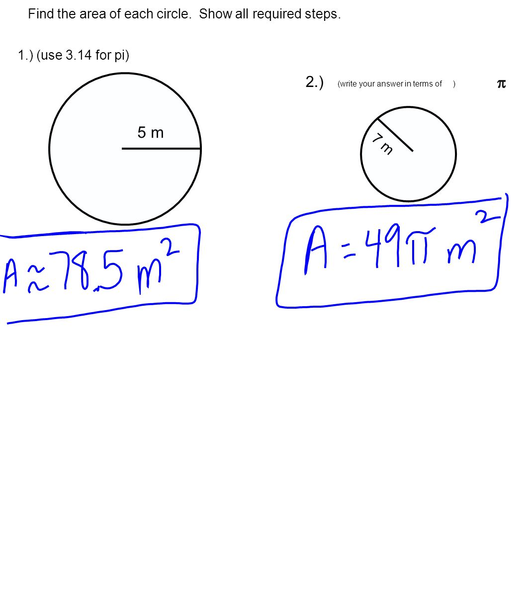 How To Find Area Radius And Circumference Of A Circle Solution
