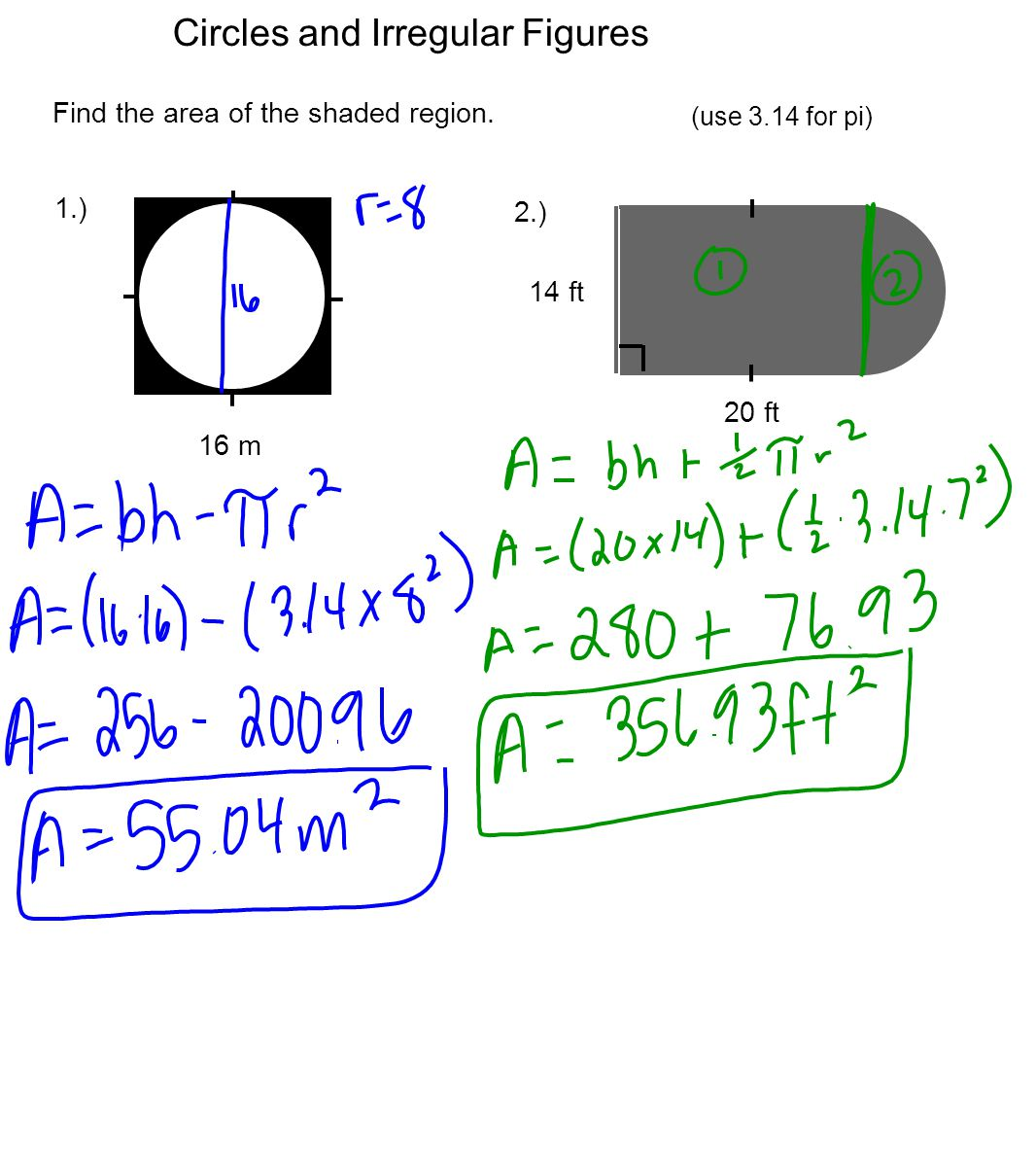 Find The Circumference Of A Circle Using Area