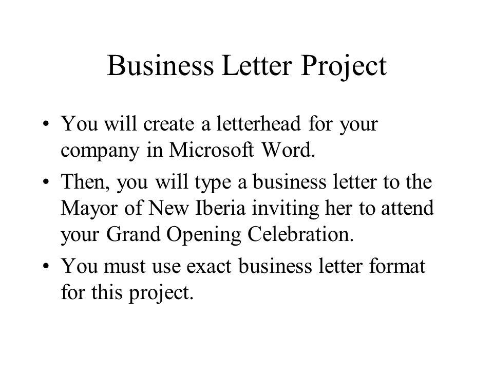 Business Letter Project - ppt video online download - celebration letter
