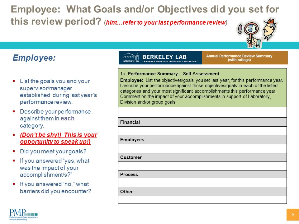 Goals Employee Performance Evaluation Unforgettable Shift Leader