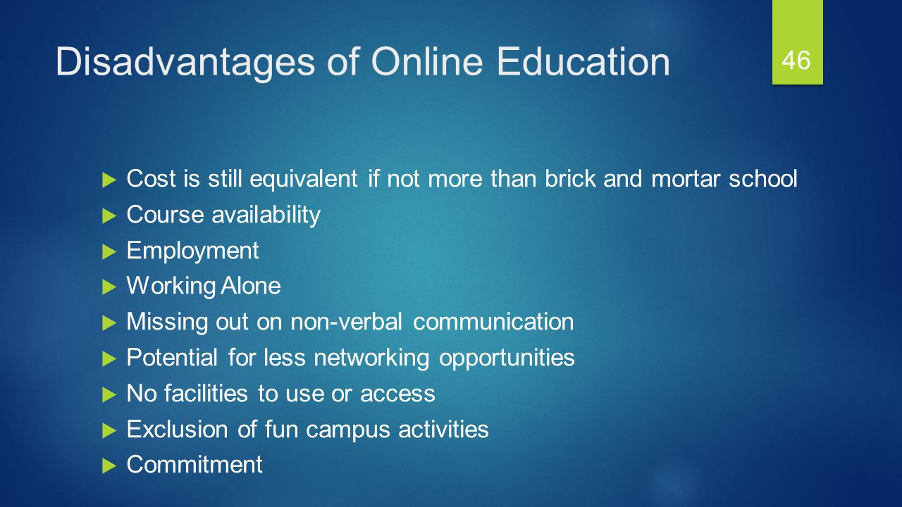 The Pros And Cons Of Online Classes - Online Classes Disadvantages