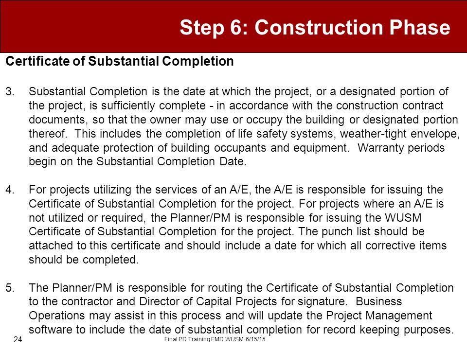 Manage Deliverables - Construction u2013 Step 6 - ppt video online - certificate of construction completion