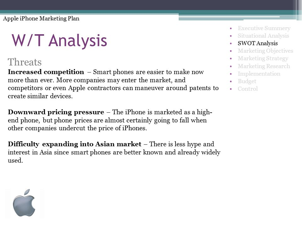 Apple iPhone Marketing Plan - ppt video online download