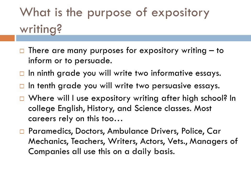 Expository essay Purpose To Inform - ppt video online download - expository essays
