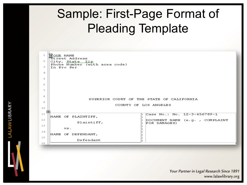 Fine Pleading Template Images - Example Resume and Template Ideas