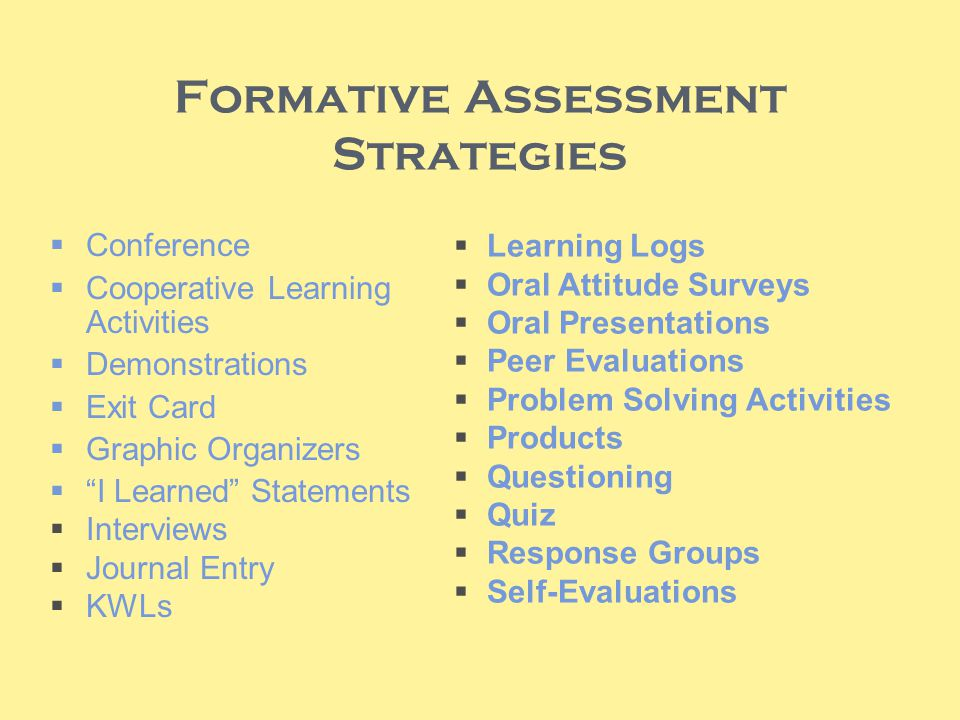 Formative Assessments - ppt video online download - formative assessment strategies