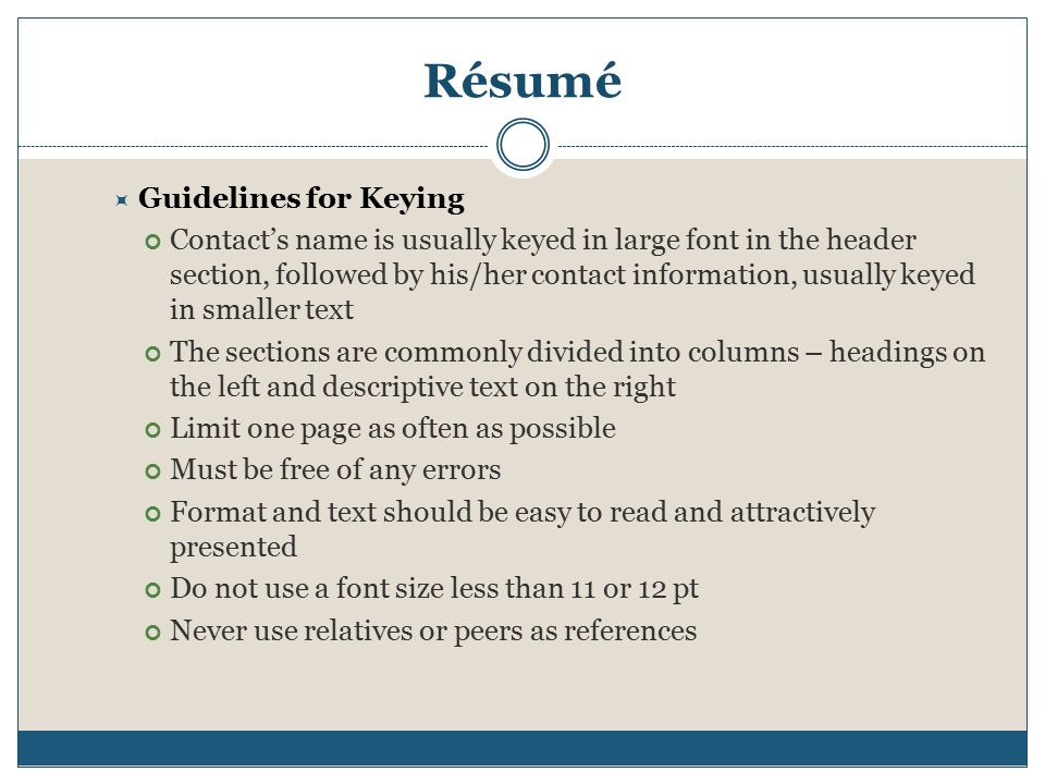 Proper Resume Format Font Size - Eliolera - font size resume
